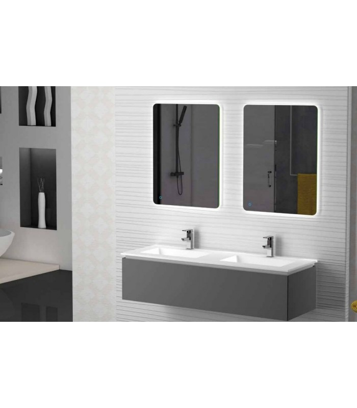 meuble suspendu salle de bain sigma 140 coycama pour. Black Bedroom Furniture Sets. Home Design Ideas