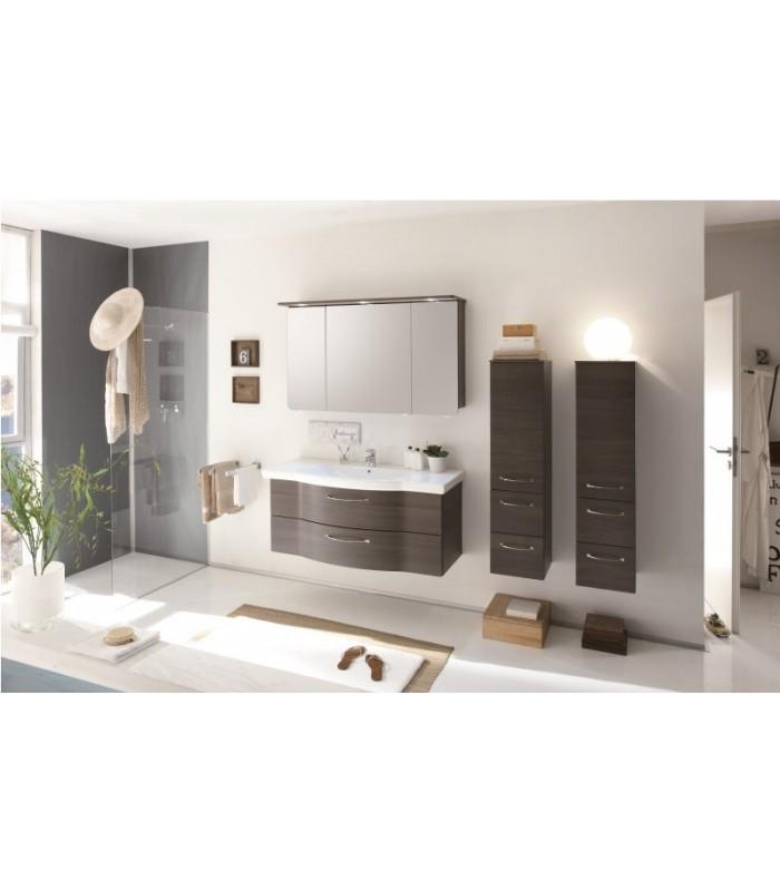 Meuble suspendu salle de bain argona 122 pelipal france for Meuble salle de bain suspendu