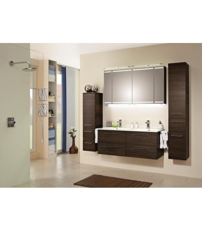 Meuble suspendu salle de bain sonic double vasque 121 Meuble vasque pour petite salle de bain