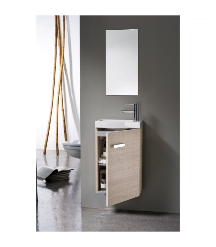 Meuble lave mains woodstock alterna pour sanitaires for Lave mains meuble