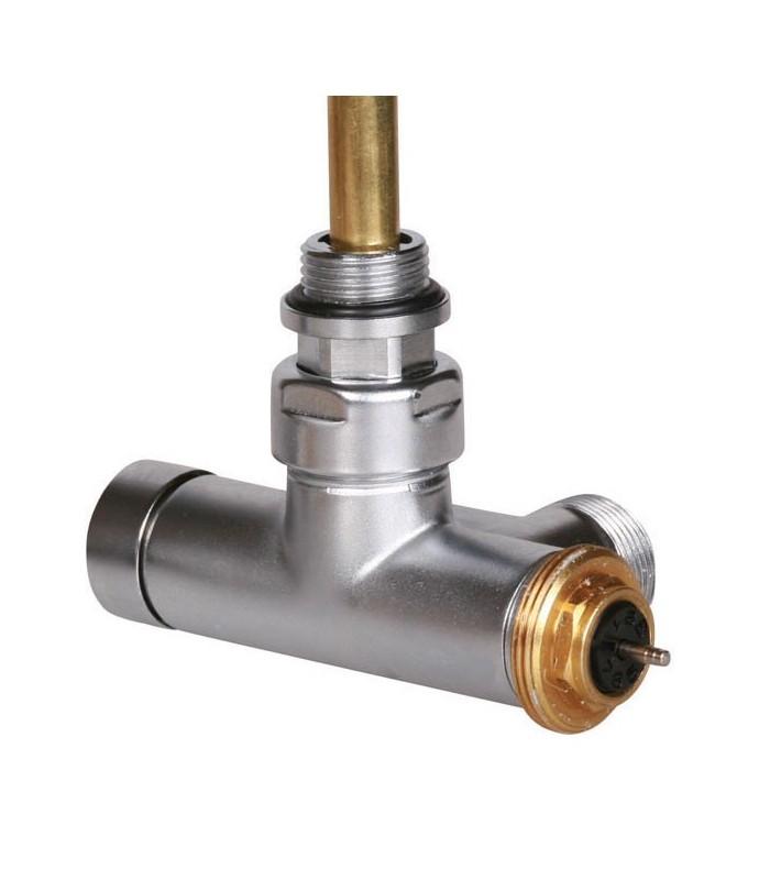 Vanne thermostatique querre avec tube d 39 immersion terma pour radiateur s che serviette - Vanne thermostatique radiateur ...