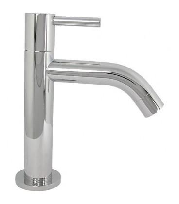 Robinet eau froide TWIN chromé, sans garniture évacuation saillie 90 mm
