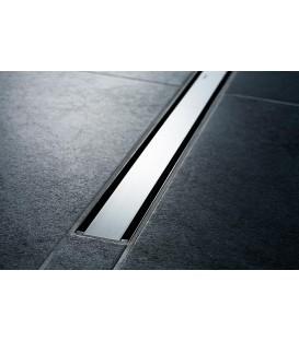 Canivelle de douche CleanLine60 M300-900mm, inox brosse, pour revetement de sol fin