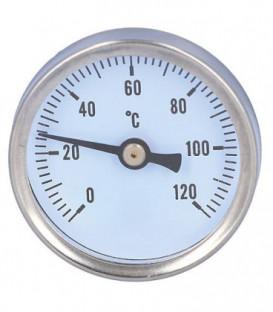 Thermometre 0-120°C convient pour: robinet a boisseau spherique equerre et droit