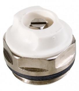 """Soupape de purge d´air rotative en laiton nickelé, filetage 1/4"""""""