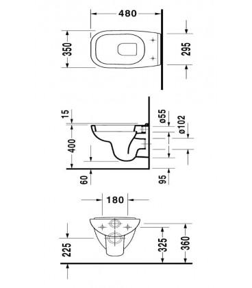 Cuvette suspendue D-code compact