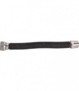Flexibles cannelés inox extensi. 1/2''-longueur avec revêtement PVC:75-91 mm