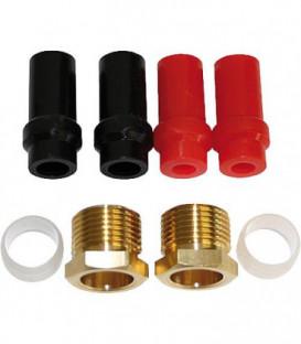 Bagues souples et raccords pour filtre fioul RV1/2, RZ. V1, pour tube diam ext 8-10-12 mm
