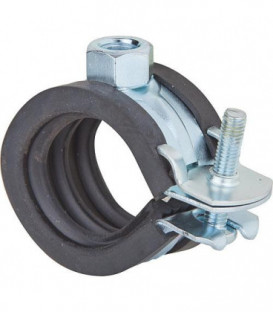 """Collier d attache pour tuyaux articules FGRS Plus 2"""", zingué Plage de serrage 56 - 63 mm"""