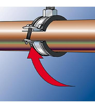 """Collier d attache pour tuyaux articules FGRS Plus 11/4"""" M8/M10 Zingué Plage de serrage 40 - 44 mm"""