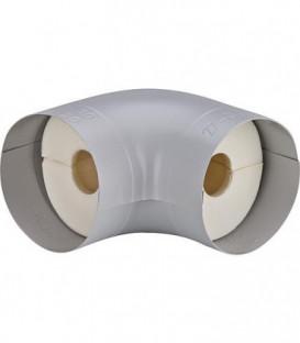 """Tube coude isolant S 90° Mousse PU (100%) plage 3/8"""" 15/18 mm, épaisseur 20 mm"""