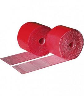 Bande PE autocollante rouge ép 2mm x larg 70 mm x 3,60 m vendue à l'unité