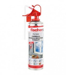 Mousse de montage rapide polyuréthane type PU 1/500 Fischer contenu 500 ml