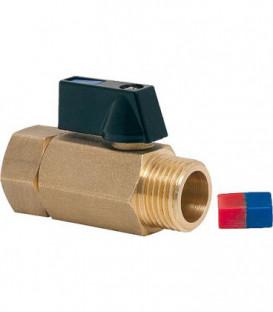 Mini vanne MEF 15/21 WATTS à boisseau sphérique avec insert reversible