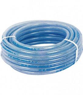 "PVC-Flexible en tissu 19x26mm DN20 (3/4"") 25m, transparent/convient p. aliments, max. 10bar +60°C"