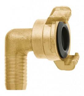 """GEKA plus section de tube coude """"2000"""" 90°, 1""""-25mm, MS, pivotant"""