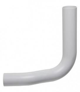 Coude de tuyau de rincage blanc diam. 50x44mm, 80mm décalés vers la gauche