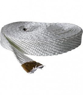 Ruban textile sans amiante 40x3 mm fibre de verre emballage 10 metres