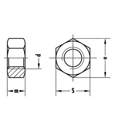 Ecrou hexagonal classe 8 IN 934 M5, UE 100 pcs