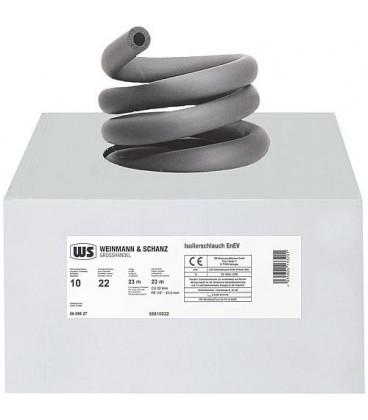 Calorifuge HT caout diam int 15mm épaisseur 10 mm emballage 1 carton 33 m