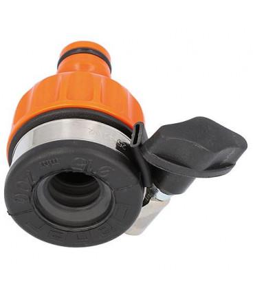 Prise d'eau voleuse-raccord robinet pour sorties plates D 15-20mm, avec bornes