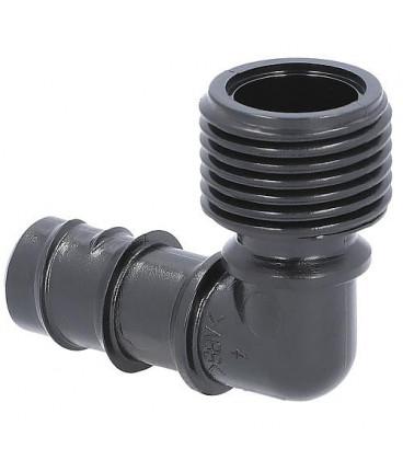 """Piece coude pour tube de pose DN15(1/2"""") avec DN15(1/2"""")male emballage 2 pieces"""