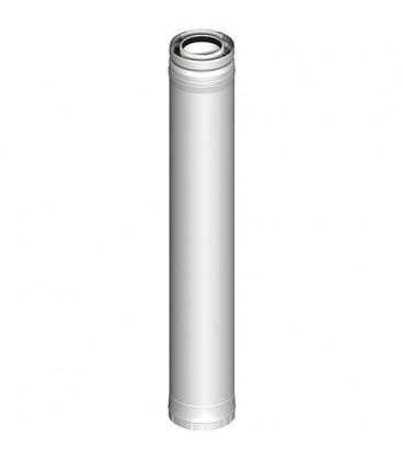 Systeme gaz d'echappement plastique Element tube 435 mm DN 080/125
