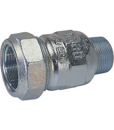 "Accoup de serrage en fonte malleable avec fil male, Gaz PN 4, eau PN 10 type A 3/8"" (17,2)"