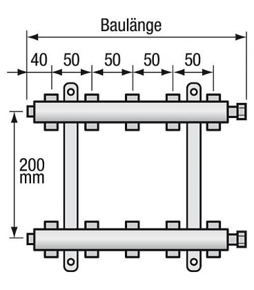 "Repartiteur de chauffage Strawa Type e-class 6309 9groupes ecrou chapeau 1"""