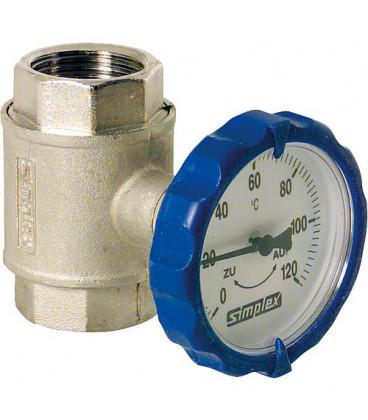 """kit circuit de chauffage M 1"""" 2 robinets de pompe 1"""" 1 robinet de retenue 1"""""""