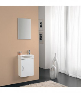 Kit meuble lave-mains Mini 42 couleur: blanc brillant