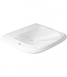 Vasque Elida fonte minerale blanc, 1 trou robinet, 2 poignees 603x102x550mm