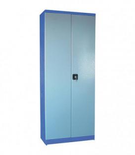 armoire a outillage 2 portes avec 4 etageres 780x380x1920 mm