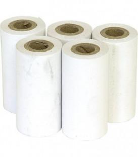 Papier thermique, UE : 5 rouleaux lisibilité longue durée l 57 mm, diam. 3 5mm. L 14,5 mm