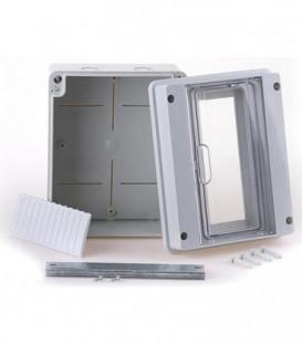 Petit répartiteur gris, 1x4 automates Lxhxp : 162x122x95 mm