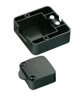 Touche 2 (1) A ouverture, 1 pole, noir avec boitier