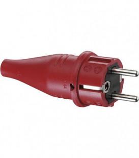 Prise de courant de securite caoutchouc rouge, 16A 250V IP 44