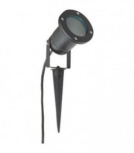 lampe exterieure LED avec piquet, rond, avec GU10 IP54, noir matt