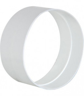 Raccord male DN 125 mm blanc plastique