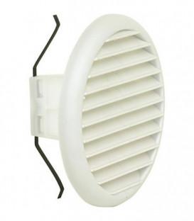 Grille d'aeration ronde LGK 100 dim ext 145 mm / Diametre nominal 100-125 /plastique blanc