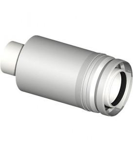 Systeme gaz d'echappement plastique tube de transition