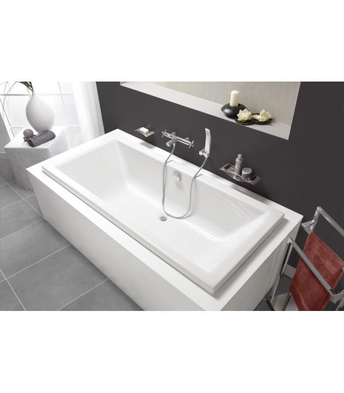 Baignoire rectangulaire quadra aquarine pour sanitaires for Sanitaire baignoire