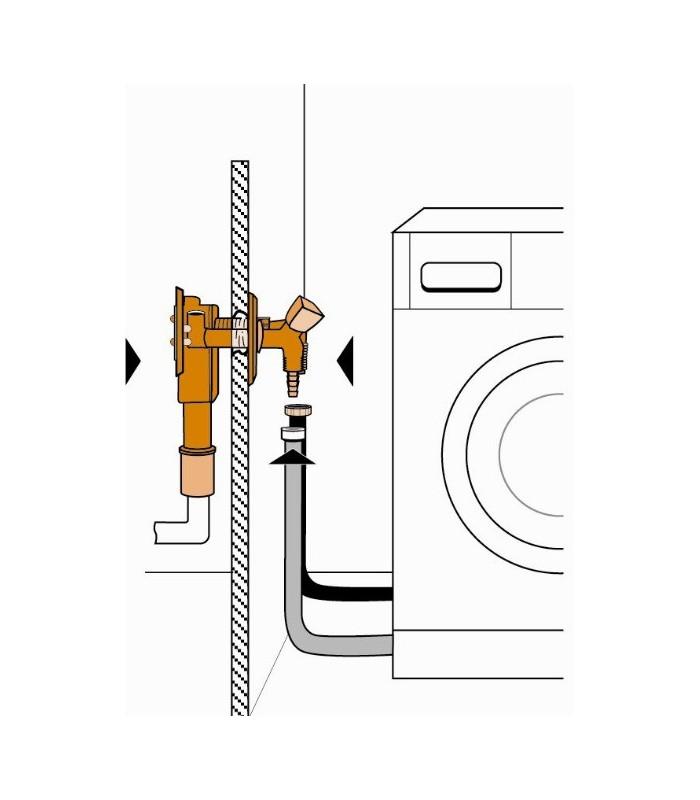 siphon encastr avec alimentation pour machine laver banyo pour sanitaires. Black Bedroom Furniture Sets. Home Design Ideas