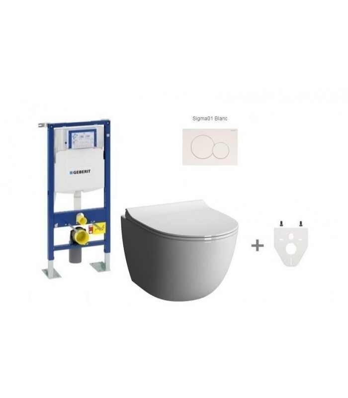 pack wc suspendu geberit sans bride geberit pour sanitaires. Black Bedroom Furniture Sets. Home Design Ideas