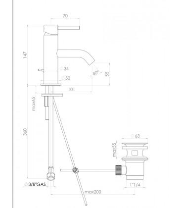 Mitigeur Lave-Mains Design