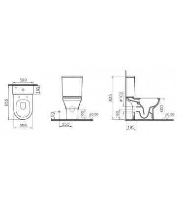 S50, Pack WC VitrAflush 2.0 caréné