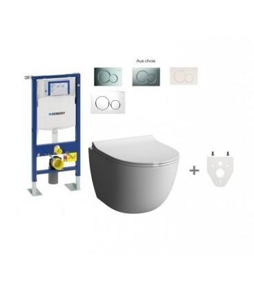 Pack wc suspendu geberit sans bride geberit pour sanitaires - Meilleur wc suspendu ...