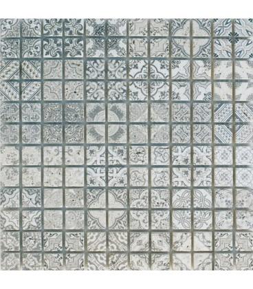 Mosaïque Travertin Décoré Rabat 23x23mm