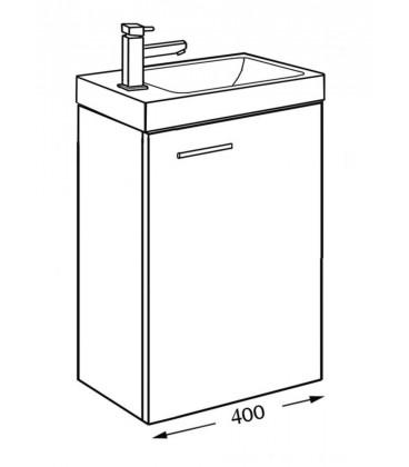 Meuble lave mains woodstock alterna pour sanitaires - Woodstock meubles ...