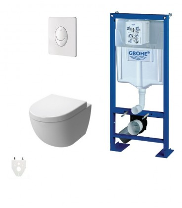 pack wc suspendu grohe autoportant daily 39 o 2 courte grohe. Black Bedroom Furniture Sets. Home Design Ideas